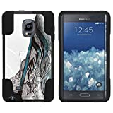 TurtleArmor | Compatible with Samsung Galaxy Note Edge Case | N915 [Gel Max] Hybrid Kickstand Shell Hard Protector Case Fitted Gel Shock Silicone Music - Artistic Music Notes