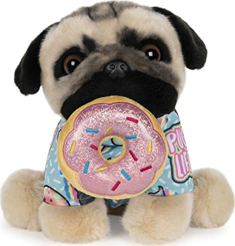"GUND Doug The Pug Donut Dog Stuffed Animal Plush, 9"""
