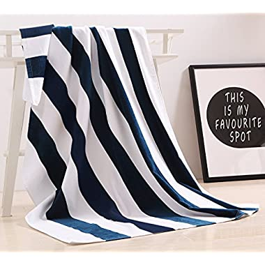 """100% Cotton Oversized Large Beach Towel,Pool Towel (35""""x70  )—Soft, Quick Dry, Lightweight, Absorbent, and Plush"""