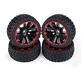 Neumáticos para coches de carreras RC, neumáticos para todo terreno RC 4pcs/set Neumáticos Neumáticos de goma para carreras Neumáticos para vehículos todo terreno RC Llanta de rueda(Patrón de grano)