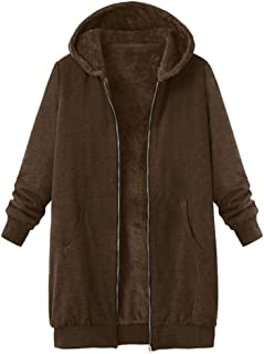 Women's Plus Size Soft and Warm Sherpa Lined Winter Jacket for Gift