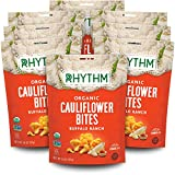 Rhythm Superfoods Crunchy Cauliflower Bites, Buffalo Ranch, Organic & Non-GMO, 1.4 Oz (Pack Of 8), Vegan/Gluten-Free Vegetable Superfood Snacks