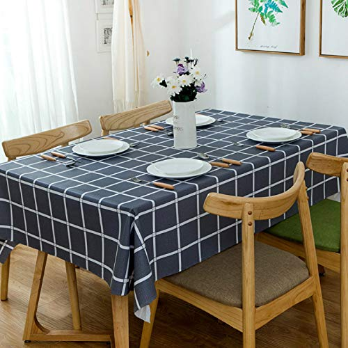 YOUYUANF Tablecloth rectangle oval linen disposable Rectangular tablecloth 100% polyester fiber soft washable rectangular tablecloth, solid color table cover for buffet tableSlate Grey90x90cm