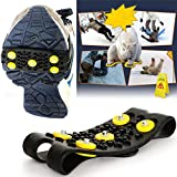 Non-Slip Snow Cleats Anti-Slip Overshoes Studded Ice Traction Shoe Covers Spike Kitchen Dining Bar Clearance Sales