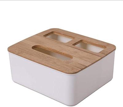 HPPL Soporte de servilleta de Madera Maciza Forma Cuadrada Caja de pañuelos de plástico de Madera Caja de Almacenamiento de Papel de Cocina en casa Accesorios, d: Amazon.es: Hogar