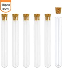 Superlady 18pcs 20x150mm 36ml Glass Test Tube with Wooden Stopper for Scientific Experiments, Party, Decorate the House, Candy Storage