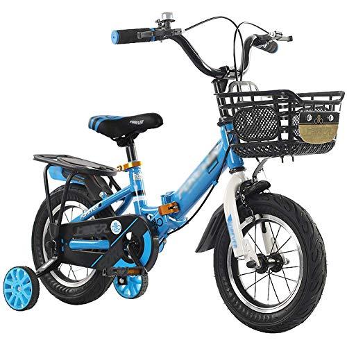 Plegable for niños bicicletas, bicicletas Niños Niñas Niños, en el tamaño de 12 pulgadas, 14 pulgadas, 16 pulgadas, bicicletas infantiles de aprendizaje con estabilizadores y la rueda de formación