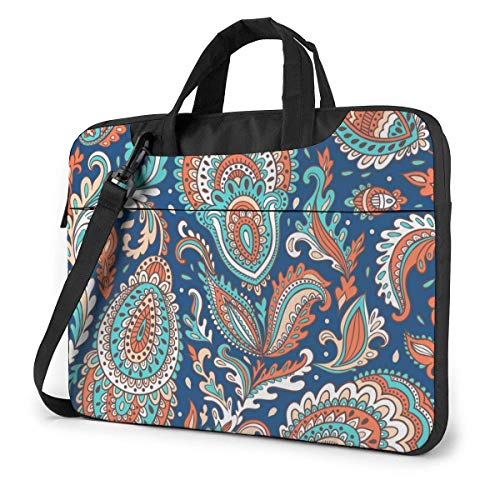 Laptop Bag Satchel Tablet,Indian Boho Mandala Laptop Carrying Case,Laptop Shoulder Bag Sleeve Case For Business Casual or School With Shoulder Straps & Handle