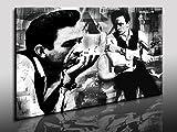 Kunstdruck Johnny Cash Bild, Leinwandbild fertig auf
