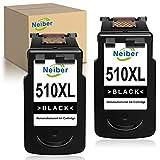 Neiber 510XL Wiederaufbereitet Tintenpatronen Kompatibel für Canon PG-510XL für Pixma iP2700 iP2702 MP230 MP240 MP250 MP260 MP330 MP480 MP490 MX340 MX350 MX360 MX410 MX420 (2 Schwarz)