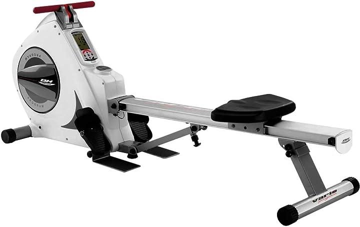 Vogatore pieghevole, 8 kg, con monitor lcd bh fitness vario program r350