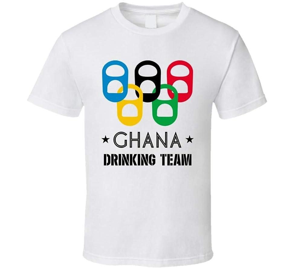 Ghana Drinking Team Olympic Ring Beer Tab Games T Shirt