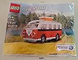 Lego Creator Volkswagen Camper Van 40079 Polybag 76 Pieces by LEGO [Toy] (English Manual)