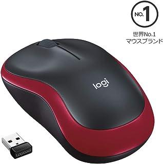 ロジクール ワイヤレスマウス 無線 マウスM185RD 小型 電池寿命最大12ケ月 M185 レッド 国内正規品 3年間無償保証