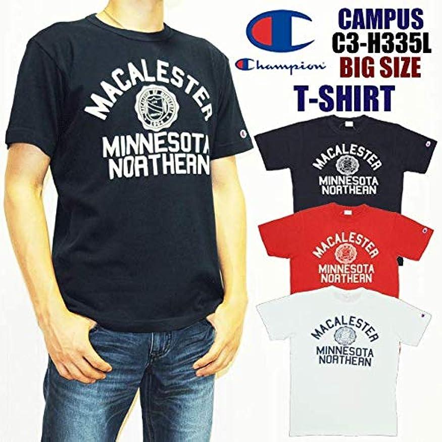 消費敬意を表して分数[チャンピオン] C3-H335L キャンパス 半袖 プリントTシャツ BIG SIZE 大きいサイズ