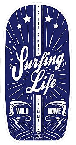 Bodyboard/Wellenreiter/Surfbrett/Schwimmbrett Surfing Life in blau ca. 102 cm