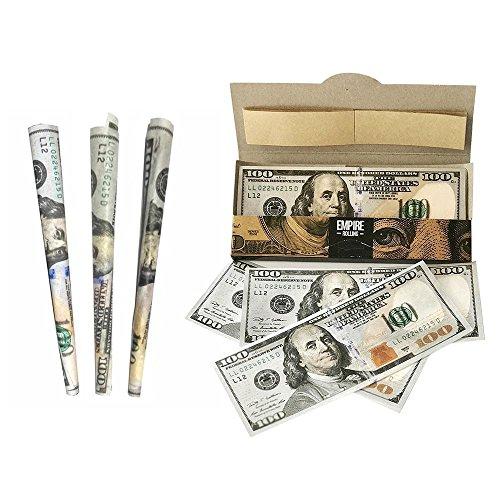 Leegoal Rolling Papers, 1 Brieftasche von $100 Bill Premium Zigaretten Rolling Papers (10ST, 2,8