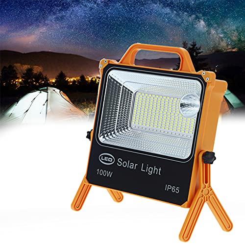 Nunafey Lámpara de Trabajo LED, luz Solar portátil con Soporte Giratorio de Carga USB 8000LM para Trabajar para Acampar