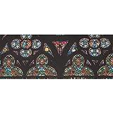 Rose Window Notre Dame De Paris Juego de papel de regalo 58x23 pulgadas 2 rollos de papel de regalo Rollo de papel de regalo de Halloween para el día de la madre Pascua Bodas Cumpleaños o cualquier o