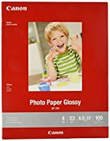 CanonInk Glossy Photo Paper 22cm x 28cm 100 Sheets (1433C004)