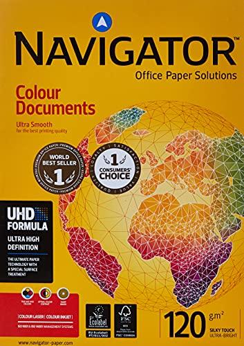 Navigator Colour Documents, Papel Especial de Copiadora, A4, 12 g.m.2, 250 de hojas