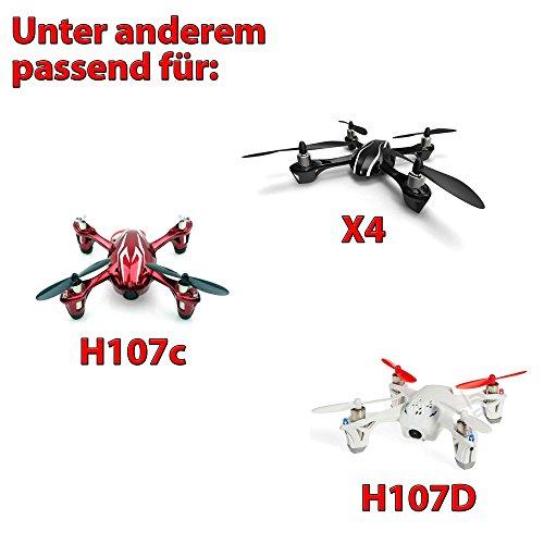 HSP Himoto 3X Akku für Hubsan X4,H107, H107L, H107C, H107D Quadcopter, Power Upgrade LiPo 500mAh, Ersatzakku mit Netzteil