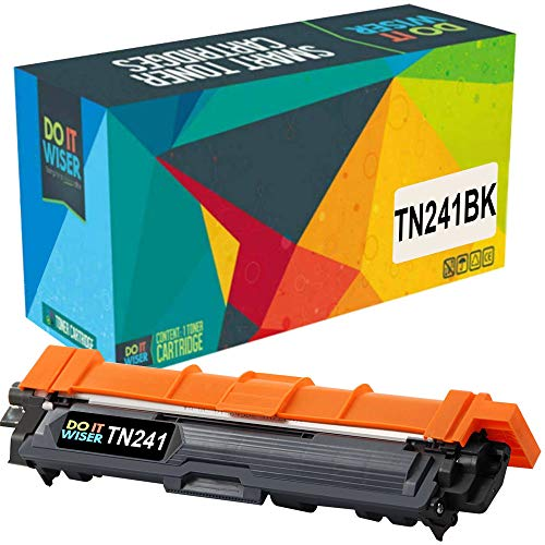 Do it Wiser Toner compatible con Brother DCP 9020CDW | MFC 9330CDW | HL3150CDW |HL-3140cw | TN241 | 3142CW | MFC 9340CDW | 3170CDW | MFC-9130CW | 9140CDN | 9342CDW | 9022 CDW| TN-241BK (Negro)