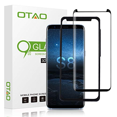OTAO Galaxy S8 Tempered Glass Screen Protector [Update Version], Easy Installation...