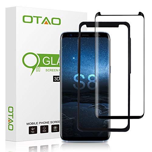 OTAO Galaxy S8 Tempered Glass Screen Protector [Update...