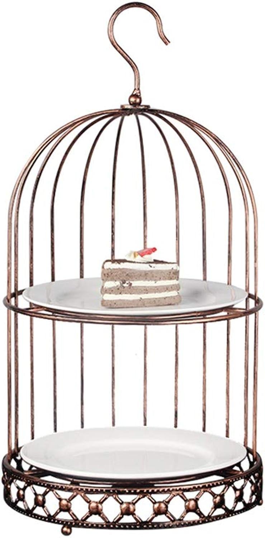 Bol De Fruits Panier De Fruits Vintage En Fer Forgé Panier De Fruits Salon Table Assiette De Fruits Cage à Oiseaux Créative Snack Stand Patisserie Assiette (Couleur   BRONZE, Taille   26.6  50.8CM)