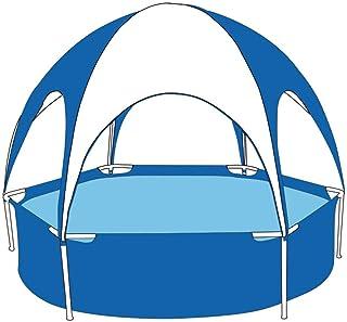 HEROTIGH Piscinas Hinchables Familia Ninos Inflable Grueso Plegable Hexagono Soporte Protector Solar 240X51Cm Inflatable Pool