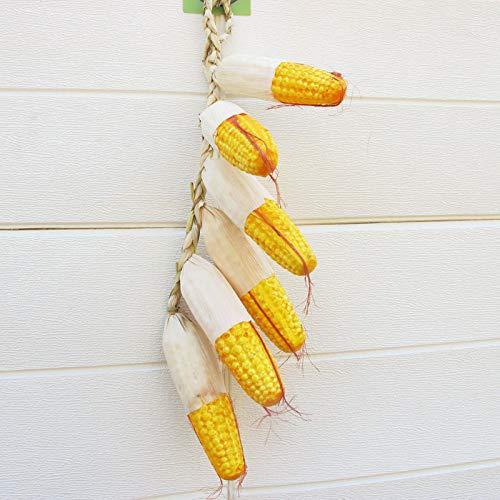 CCEKD Künstliche Früchte Künstliche Maisschnur gefälschte dekorative hängende Ernte des Maiskolben-Knospenreises