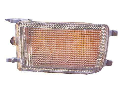 Depo 3302125 Droit, feu parachoc, sans porte-lampe, blanc
