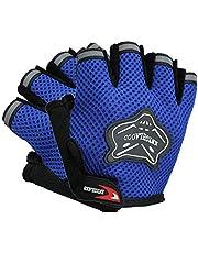 ShenyKan Fox Head Fietshandschoenen, ademende handschoenen met halve vingers, anti-vibratie, geweldig accessoire