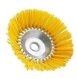 Spazzola per erbacce, in nylon, 20,3 cm, universale, per tosaerba e erbacce, con foro rotondo da 2,5 cm per giardino, patio