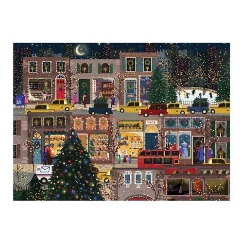 Joy Laforme Winter Lights Large Embellished Holiday Notecards