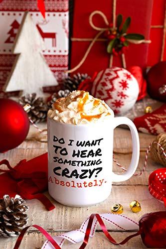 N\A ¿Quiero oír Algo? Taza de chismes Locos Cita Divertida Taza de café Regalos para compañeros de Trabajo