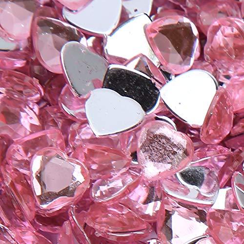 Pedrería, pedrería puntiaguda, colores brillantes para hacer camisetas, suéteres(Pink)