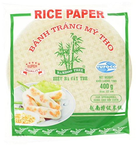 BAMBOO TREE Reispapier, rund, 22 cm, 4er Pack (4 x 400 g)
