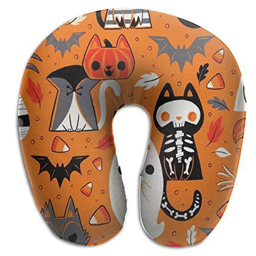 Almohada de espuma viscoelástica para el cuello, divertida almohada de viaje, para Halloween, Halloween, cosplay