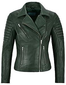 Mila Kunis Ladies Leather Jacket Stylish Fashion Designer Soft Biker Style 9334 from
