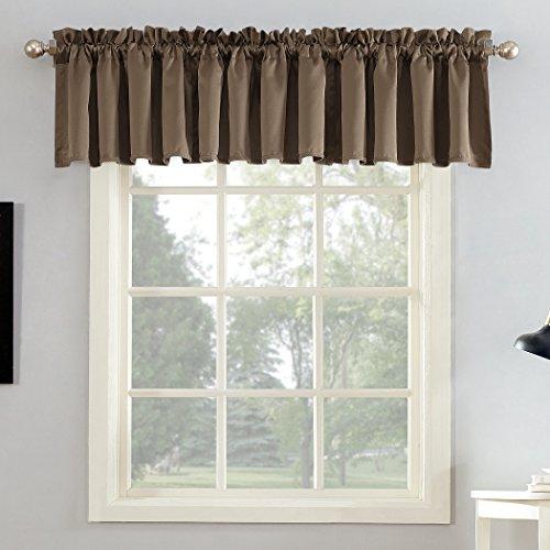 """Sun Zero Barrow Curtain Panel, 54"""" x 18""""-1, Mocha Brown"""