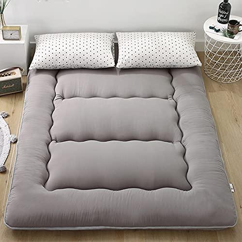 ZRXRY Colchón de Suelo de colchón de futón japonés de Color Puro, Cama de Dormir Extra Gruesa de 10 cm para Suelo, colchón Enrollable, colchón de Tatami para Invitados,F,90 * 200CM
