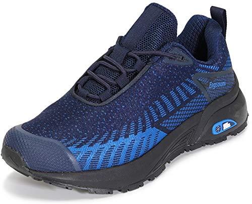 Zapatillas de Trail Running para Hombre Mujer Zapatillas de Deportivos Correr en Asfalto Calzado Aire Libre Zapatos de Senderismo Antideslizante, A-Azul Oscuro,39 EU