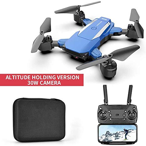 HBBOOI Mini RC Quadcopter Drone mit Kamera-HD 480P Auto Schwebende 3D-360 ° Flips Rolls Headless Modus Drone for Anfänger (Color : Blau)