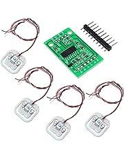 QuickShop 4 unidades de sensor de tensión de carga corporal de 50 kg con módulo HX711 AD