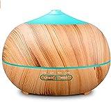 Elobaby Diffusore di Aromi Portatile con umidificatore ad ultrasuoni da 500 ml, con Nebbia Fredda e luci a LED con 7 Cambi di Colore, purificatore d'Aria con spegnimento Automatico Senza Acqua