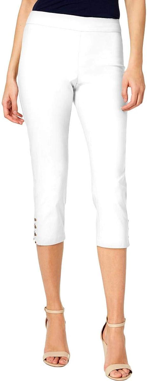JM Collection Womens High Rise Daytime Capri Pants