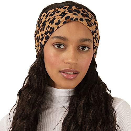 BLOM Original Bamboo Headbands. Leopard Multi-Style Design. Bamboo Fabric. For Sports, Yoga, Hiking, Running, Fashion (Natural Leopard)