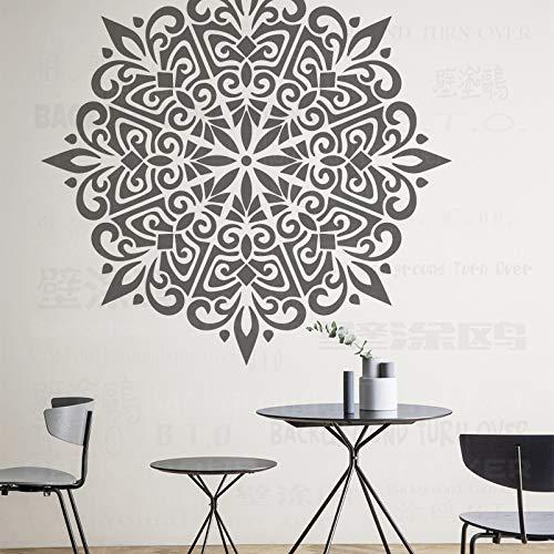 130cm Large Huge Giant Mandala Indian Arabic Ethnic Round Stencil Stencils Mandala Paint Big For Decor Template Paredes Reutilizables Patrones De Pared De Nicho Grande Azulejo Muebles Las
